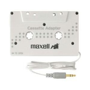 MAX191210 - Compatible Stereo Cassette Adapter,f/iPod/MP3/CD/DVD,White