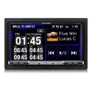 Alpine IXA-W407 - Digital player with LCD monitor and radio