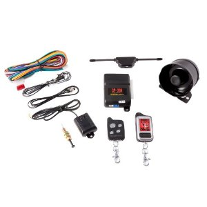 Crimestopper SP-300 2-Way FM LCD Pager Car Alarm with Keyless Entry and Engine Disable