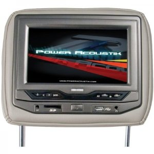Power Acoustik HDVD-93BK Single 9-Inch Replacement Headrest with DVD and Video Monitor (Black)