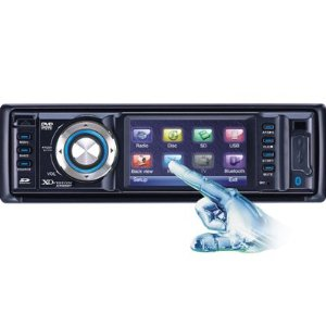 XO Vision XO1915BT 3-Inch Wide TouchScreen In-Dash DVD Receiver with Built-In Bluetooth, USB/SD Inputs, and Detachable Face
