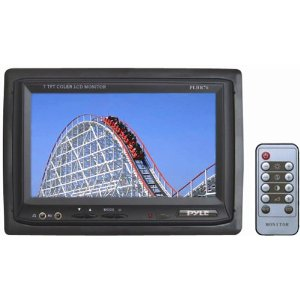 PYLE PLHR76 7-Inch Widescreen TFT/LCD Video Monitor withHeadrest Shroud