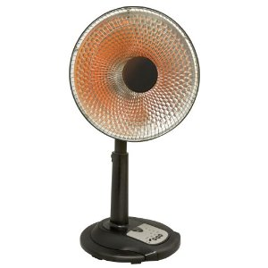 Comfort Zone CZ999SR Oscillating Parabolic Dish Heater with Stand and Remote Control