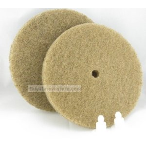 Koblenz Tan Cleaning/Polishing Pads - 2 Pads and 2 Retainers