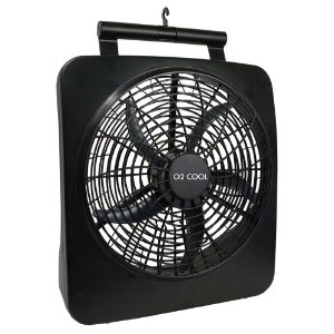 O2Cool 1071 10-Inch Battery or Electric Portable Fan