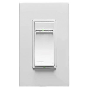 Leviton VRF01-1LZ Vizia RF + 1.5A Scene Capable Quiet Fan Speed Control For Single Pole, White/Ivory/Light Almond