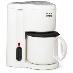 Jerdon First Class CM21W 4 Cup Coffee Maker, Thermal Carafe, White