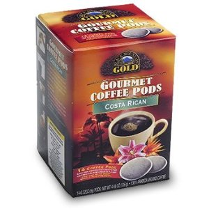 Black Mountain Gold Gourmet Coffee Pods - Costa Rican - 14 Ct.