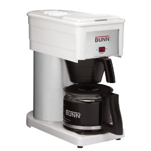 BUNN BXW Classic 10-Cup Home Coffee Brewer, White