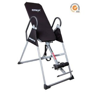 Emer Gravity Pro Deluxe Fitness Therapy Inversion Table Exercise Machine - Black