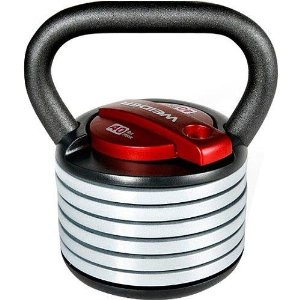 Weider SpaceSaver 40-Pound Adjustable Kettle Bell