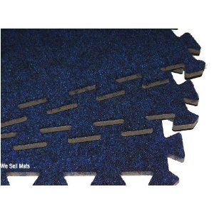 'We Sell Mats' Carpet interlocking floor mats charcoal gray, black, dark blue each tile 2'x2' and 3/8