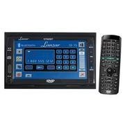 Lanzar STS65BT 6.5� In-Dash Double Din T Feet LCD CD/DVD/Mp3/AM/FM-MPX Radio Touch Screen Built-In Bluetooth