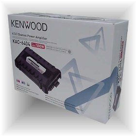Kenwood KAC-6404 500-Watt Max Power Stereo Bridgeable Amplifier with Variable LPF/HPF