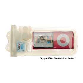 DiCAPac WPMS10 Waterproof Case for iPods-Classic, Touch & Video with Haptic Respond Vibration Waterproof Earphone
