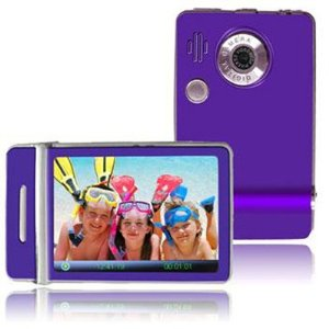 Ematic 1.8 Inches Touch Screen Color MP3 Video Player With Built-in 5MP Digital Camera and Video Recording, FM Radio & Speaker PURPLE