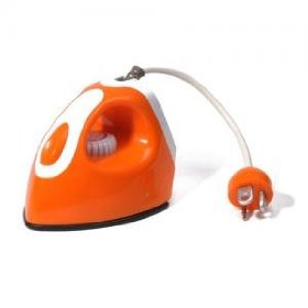 HOMADE Iron shaped Alarm Clock with Radio and MP3 player---Orange