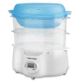 B&d hs1150 white food steamer 2tier