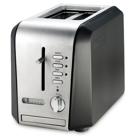 Delonghi cth2003b toaster 2slice black stainless steel