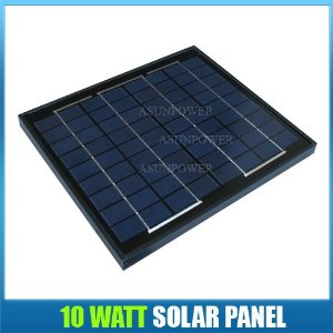 Solarteh Power 10 Watt 12 Volt Black Frame Solar Panel