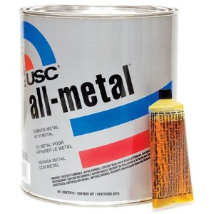 USC All Metal Body Filler Putty Quart (metal to metal)