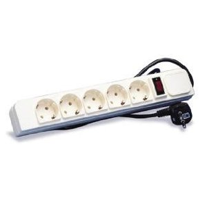 220V POWER STRIP WITH SURGE PROTECTION FOR USE IN 220V/240V COUNTRIES