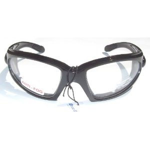 Birdz Quail Motorcycle Padded Glasses Clear Night Riding Anti Fog Uv400 Has comfortable vented EVA foam padding on the entire inside of the glasses to fit snug to your face and protect against wind and dust while still allowing your eyes to breathe.