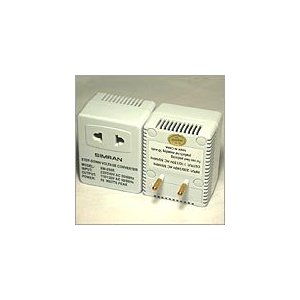 50 WATT SIMRAN SM 250R - STEP DOWN FOREIGN TRAVEL VOLTAGE POWER CONVERTER WITH FUSE PROTECTION.