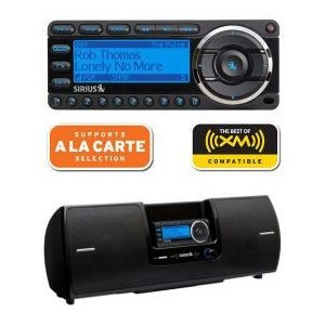 Sirius Starmate 5 Satellite Radio With Boombox Bundle