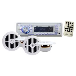 Pyle PLMRKT34WT In-Dash Marine AM/FM PLL Tuning Radio with USB/SD/MMC Reader