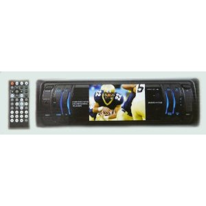 Nitro BMWx-4730 Single DIN 3.2 inch TFT Monitor DVD / MP3 / MP4 / CD / CD-R / CD-RW / VCD / SVCD / AM/FM Receiver with Flip-Down Detachable Front Panel, USB Port, SD Card Slot & Remote