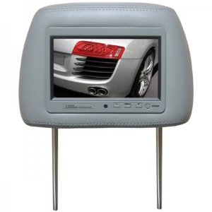 BOSS 7HRG 7-Inch Widescreen TFT Monitor One Universal Headrest with Pre-Installed (Grey)