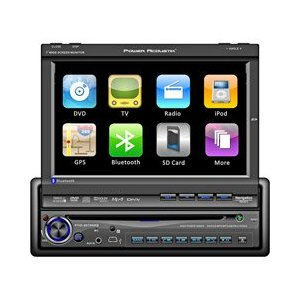 Power Acoustik PTID-8940NRBT Motorized Flip-Up Screen AM/FM DVD Bluetooth Receiver with New Graphics