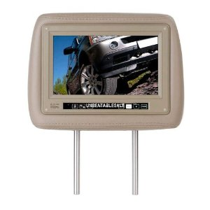 Boss HIR9.2T Universal Headrest with Pre-Installed 9.2� Widescreen TFT MONITOR (Tan)
