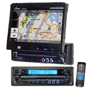 Lanzar SDBT79NV 7-Inch Motorized T Feet Touch Screen DVD/CD/MP3 Player/AM/FM/SD USB with Built-In GPS/USA/Canada and Mexico Maps