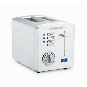 Cuisinart CPT-170 Brushed Stainless-Steel 2-Slice Toaster with Countdown Timer