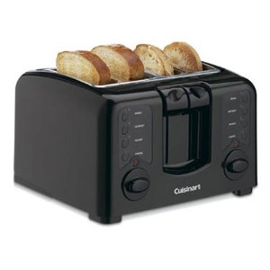 Factory Reconditioned Cuisinart CPT-140BK Electronic Cool Touch 4 Slice Toaster, Black