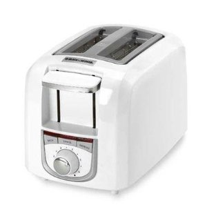 Black & Decker 2-Slice Toaster - White