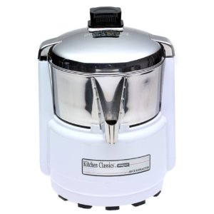 Waring PJE401 Juice Extractor, Quite White and Stainless Steel