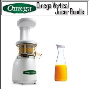 Omega VRT330 Vertical Masticating Juicer Pearl With Acrylic 56 Oz Juice Jar