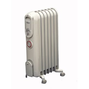 DeLonghi TRV0715T Vento Hi-Speed Convection Oil-Filled Radiator Heater with Programmable Timer