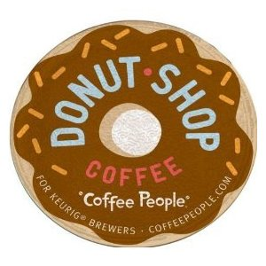 Coffee People, Donut Shop Coffee K-Cups for Keurig Brewers, 18 count - Medium Flavor Caffeinated - by Diedrich Coffee Co.