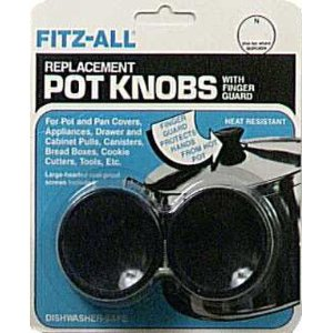 Fitz-All Set of 2 Replacement Pot Knobs with Finger Guards