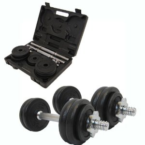 Confidence Pair of 40 lb Fitness Pro Adjustable Dumbbells Set with case