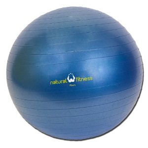Natural Fitness 75cm Burst-Resistant Exercise Ball (Slate)
