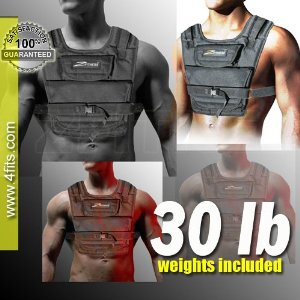NEW! ZFO-30LBS Adjustable Weighted Vest (WEIGHTS INCLUDED)
