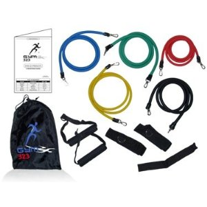 11 Pcs-5 Resistance Bands-door Anchor-ankle Straps | Resistance Bands Set | Exercise Bands | Home Gym Fitness Equipment | Workout Bands | Exercise Equipment.