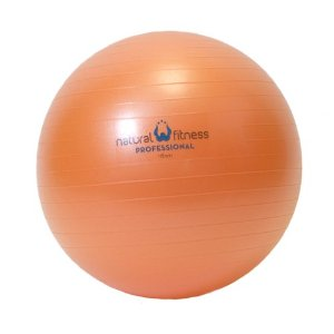 Natural Fitness 45cm Professional Burst-Resistant Exercise Ball (Flame)