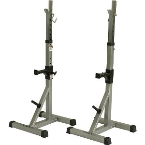 Valor Athletics BD-8 Deluxe Squat Stands with Plate Storage