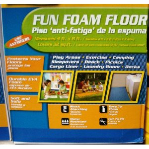 Multi-use 4' x 8' Foam Floor Mat ,31 sq. ft., Used as Exercise Mat, Play Mat, Yoga Mat, Anti Fatigue Mat, Outdoor Mat, Camping Mat, Sleeping Mat